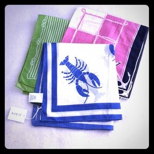 J. Crew square scarves scarf lot lobster nautical